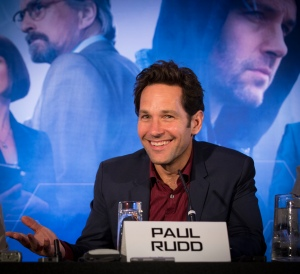 "London UK – JULY  7:  Actor Paul Rudd at the press conference for Marvel's ""Ant-Man"" in London on July 7, 2015 (Credit: James Gillham / StingMedia.co.uk)"