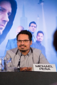 """London UK – JULY  7:  Actor Michael Pena at the press conference for Marvel's """"Ant-Man"""" in London on July 7, 2015 (Credit: James Gillham / StingMedia.co.uk)"""