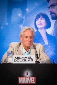"London UK – JULY  7:  Actor Michael Douglas at the press conference for Marvel's ""Ant-Man"" in London on July 7, 2015 (Credit: James Gillham / StingMedia.co.uk)"
