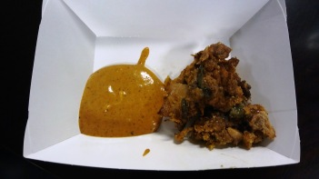 """Fried """"chicken"""" with an amazing sauce!"""