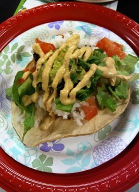 Open-faced taco