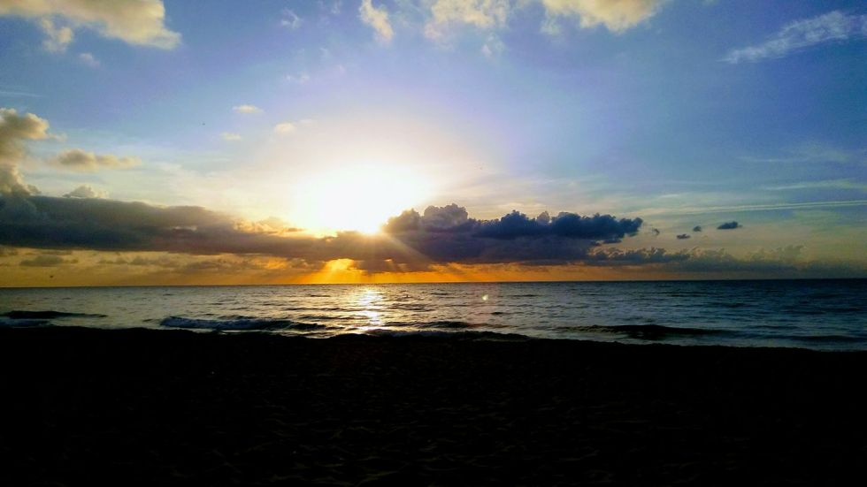 Sunrise at Gulfstream Park which is one of eight beaches identified by PB Naturists as a potential location for a family-friendly, clothing-optional beach